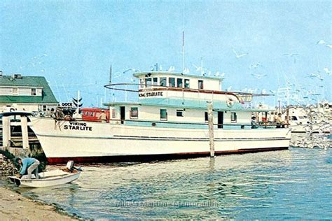 deep sea fishing montauk party boat viking starlite montauk ny 1965 lobster fishing