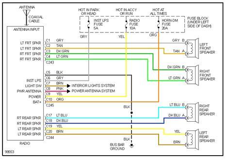 2003 chevy silverado radio wiring diagram wirdig