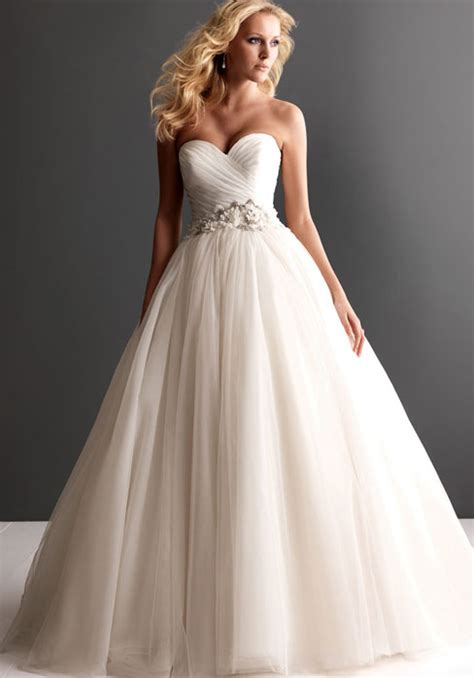 ruched strapless tulle ball gown wedding dress cheap
