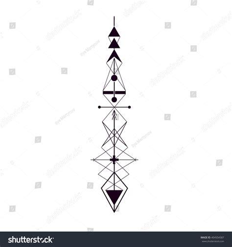 geometric tattoo vector geometric arrow design element vector illustration stock