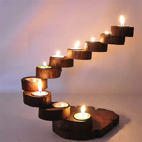 Handmade Wood Products - thai wooden candlestick exclusive debut precious teak