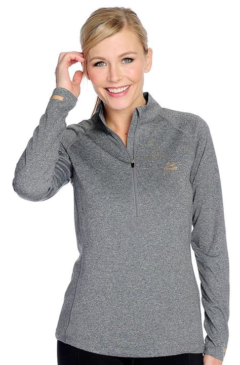 Hn Longtop Grey Fit Xl copper fit xl gray sleeved copper infused half zip pullover new