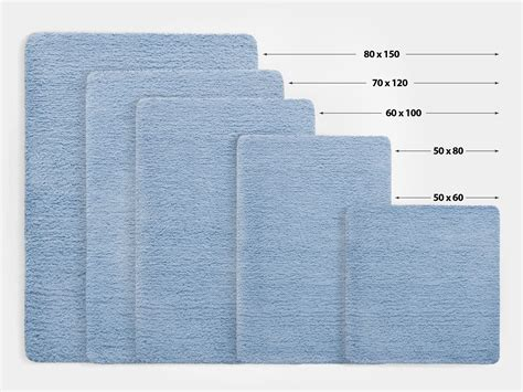 Size Rugs by Fluffy Bathroom Rugs Sky Blue 6 Sizes Available