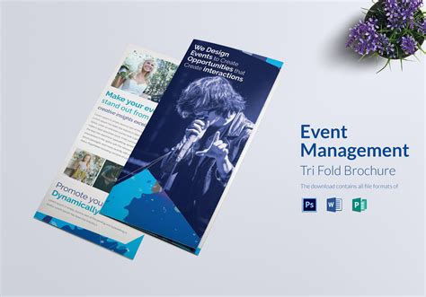 Event Management Tri Fold Brochure Design Template In Word Psd Publisher Event Management Flyers Templates