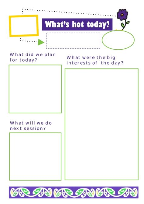 Emergent curriculum planning sheet
