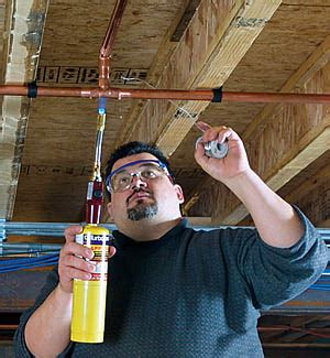 Solder For Plumbing by Soldering Copper Pipe Finehomebuilding