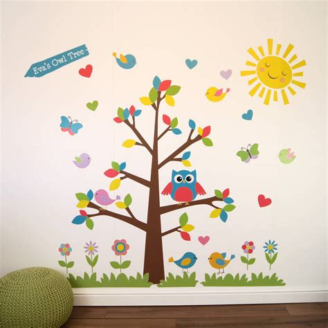 owl tree wall sticker owl tree wall stickers by parkins interiors