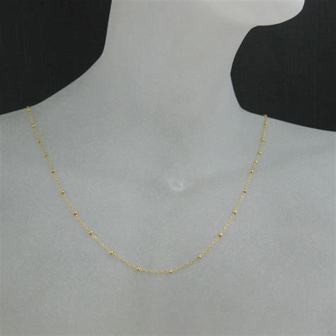 Wholesale Gold plated Sterling Silver Vermeil Tiny Beaded Ball Cable Chain, Wholesale Bulk