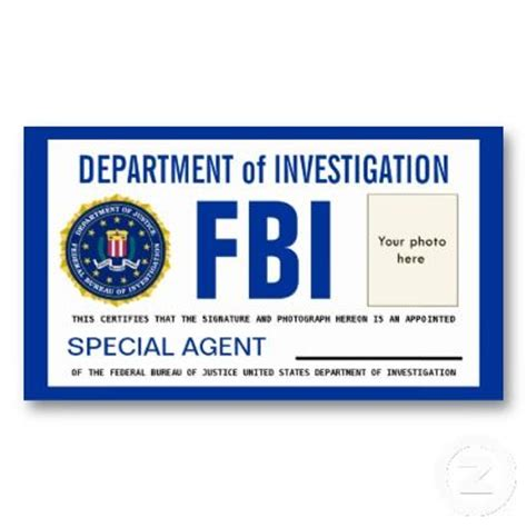 detective id card template id cards templates template fbi badge sep 17