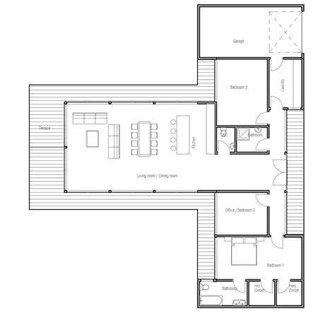 economical floor plans affordable home plans economical house plan ch164