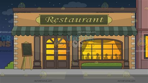 Classic Kitchen Ideas by Outside A Fancy Restaurant Background Cartoon Clipart
