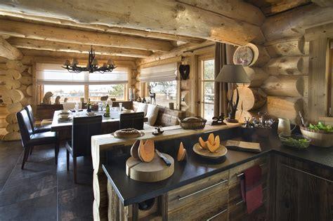 canapé style montagne salon chalet montagne
