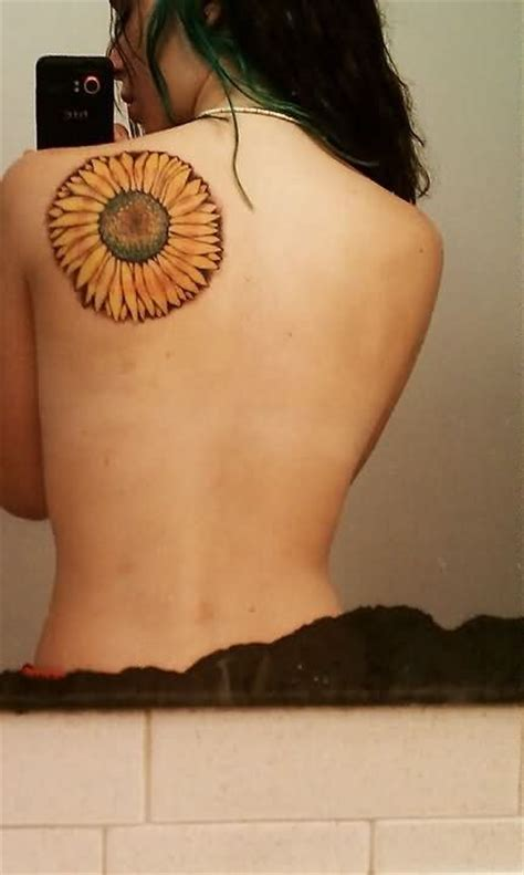 sunflower tattoo on shoulder tumblr sunflower tattoos with quotes quotesgram