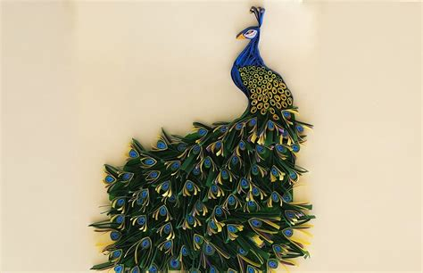 How To Make A Peacock Out Of Paper - paper quilling peacock