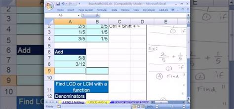 Offices Add Subtract by How To Add And Subtract Simple Fractions In Microsoft