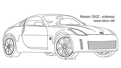 Drawing Z In Autocad by Autocad Drawing Nissan 350z Sport Car Coupe Automobile
