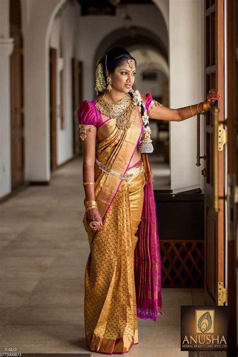 latest wedding sareesbuy south indiantraditional silk south indian bride gold kanchipuram silk sari hindu