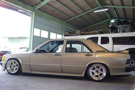 lowered mercedes 190e mercedes benz 190e 2 3 16v w201 on epsilon japan wheels
