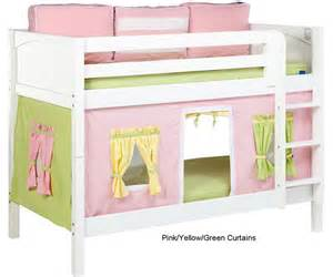 Loft Beds With Curtains Bunk Bed Curtains Pink Green Yellow Bed Accessories