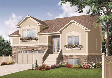 split plan house split level house plans home design 3468