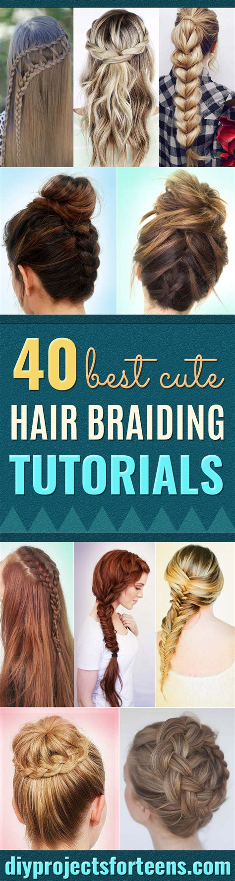 Braided Hairstyles For Hair Tutorials by 40 Of The Best Hair Braiding Tutorials Diy Projects