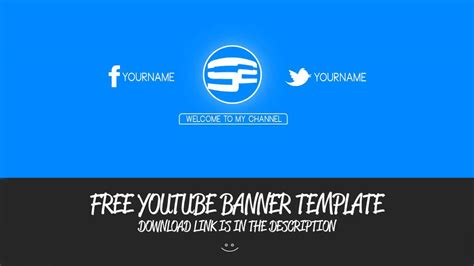 Free Clean Yt Banner Template Youtube Clean Banner Template