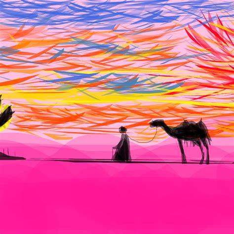 desert sunset drawings sketchport