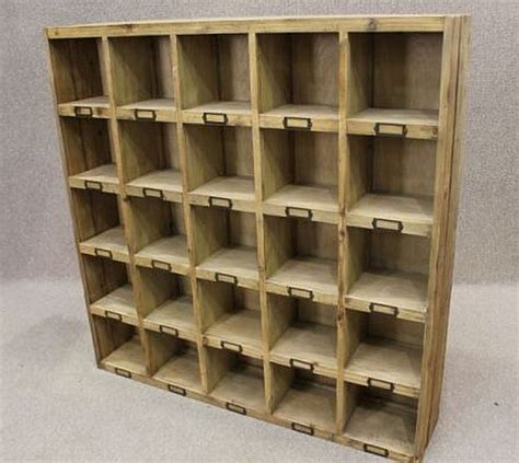 RECLAIMED PINE BOOKCASE LETTER RACK, PIGEON HOLE BOOKCASE