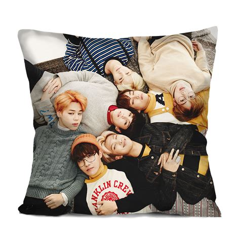 bangtan boys bts cushion cover kpop bts throw pillow custom gifts soft decorative