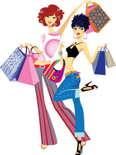 clothes vector design free download fashion shopping girls clip art free vector download