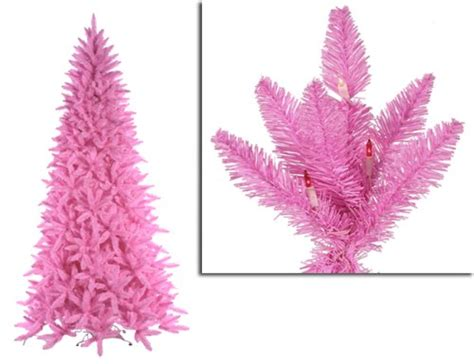 get cheap 9 pre lit slim pink ashley spruce christmas tree