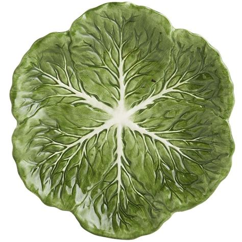 cabbage leaves salad plate pier  imports patterned