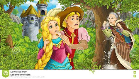 w w w lmage princess swaziland com cartoon fairy tale scene with castle tower princess in