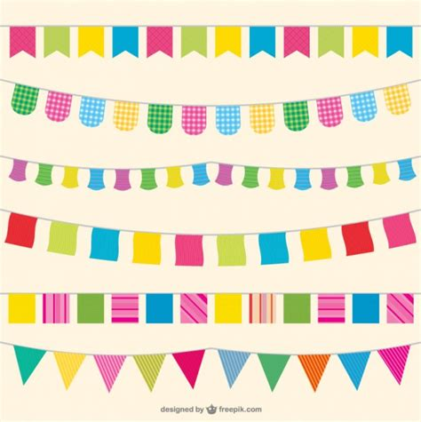 new year bunting vector flags illustration vector free