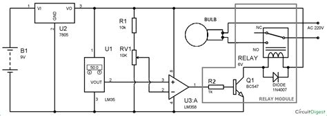 light switch circuit temperature controlled automatic switch