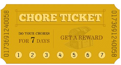 printable incentive tickets printable chore ticket 171 momadvice