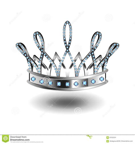 corona cruel la reina corona de la plata de la reina de aislada en el vector blanco ilustraci 243 n del vector