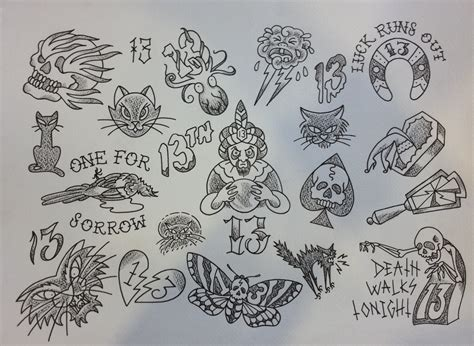 tattoo flash friday the 13th friday 13th flash madam butterfly s tattoo parlour