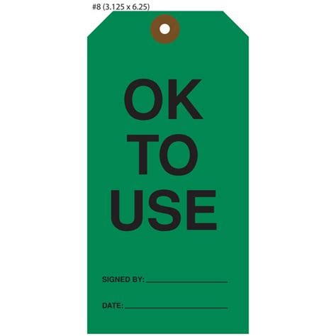 custom printed ok to use hang tags st louis tag