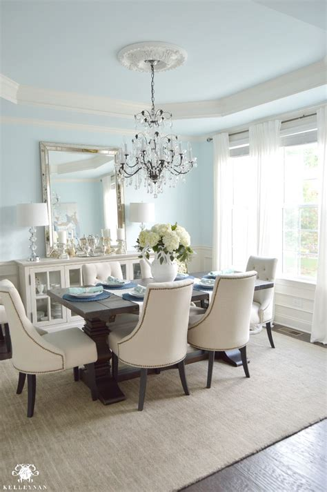 White Dining Room Buffet dining room update vertical vs horizontal buffet mirror