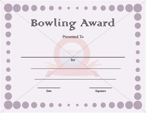 bowling certificate template the world s catalog of ideas