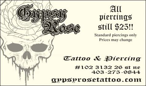 gypsy rose tattoo opening hours 102 3132 26th street