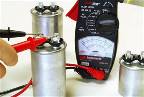 test capacitor well electric motor multimeter testing