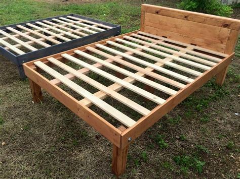 Wood Pallet Bed Frame Size Wooden Pallet Bed Frames 101 Pallets