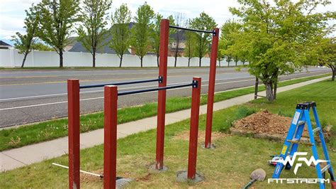 backyard parallel bars how to make an outdoor pull up bar and parallel bars