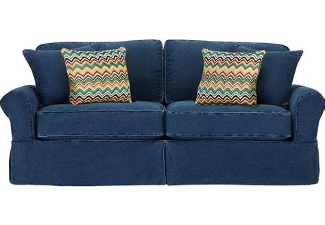 blue slipcover sofa home isles blue sofa sofas blue