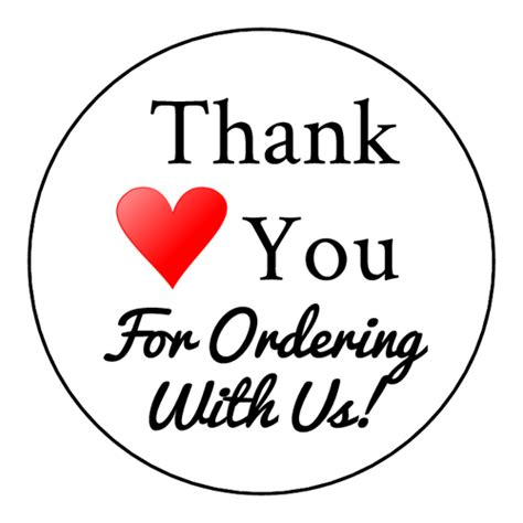 thank you sticker template thank you for ordering with us editable label design free