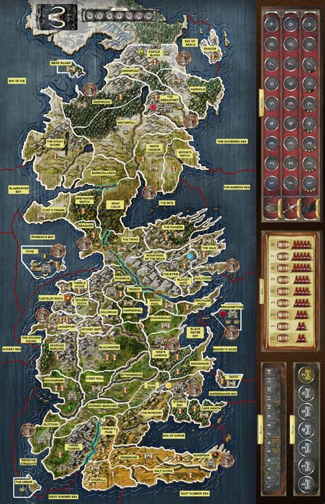 A Of Thrones The Board Second Edition popular 240 list of thrones board map