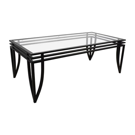 Buy Black Coffee Table 77 Furniture Furniture Rectangular Glass And Black Coffee Table Tables