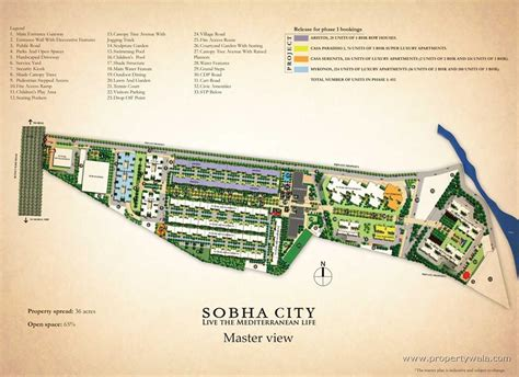 Shopping Complex Floor Plans by Sobha City Thanisandra Bangalore Residential Project